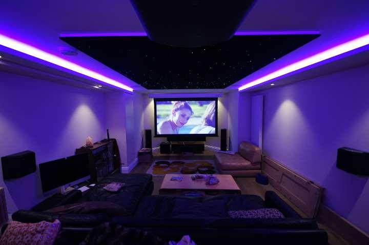 Star Ceiling Cinema room