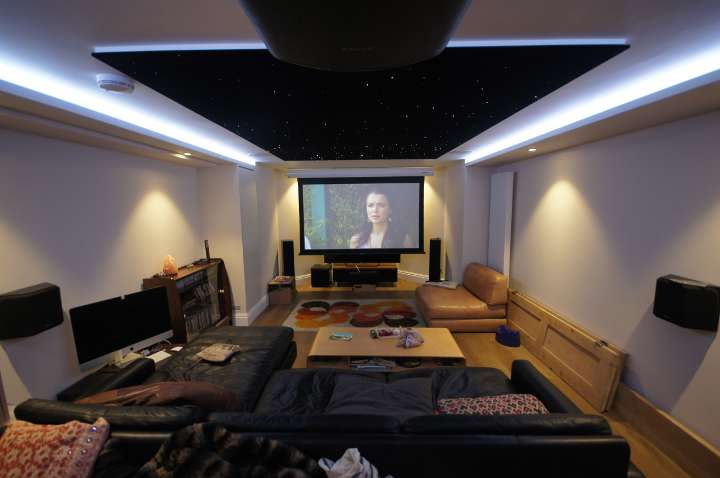 4K Cinema room with star ceiling