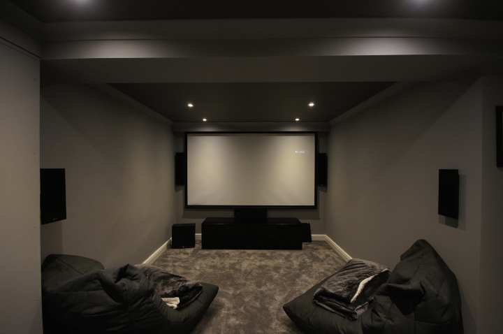Slim on wall speakers used by home cinema installers in berkshire