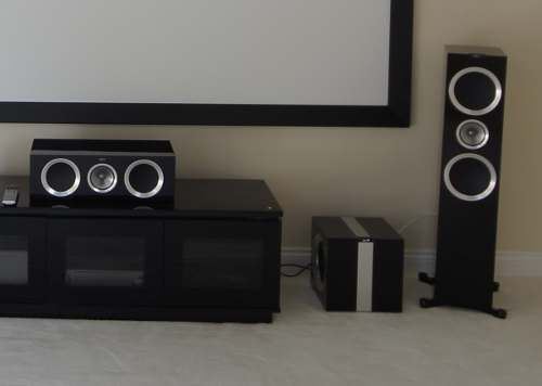 KEF R900 - Home cinema Installation in Cambridgeshire -Kef R400B R600C