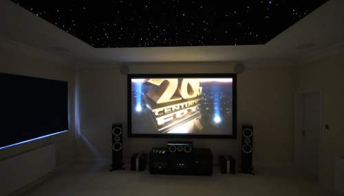 4K Home cinema Installation in Cambridgeshire - Kef R series speakers