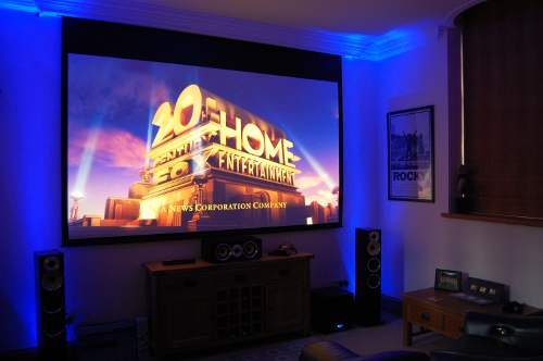 Home cinema installation in Norfolk with LED lighting