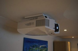 Sony VPL-HW40ES on Ultra low profile ceiling mount