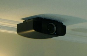SONY VPL-VW300ES on exra thin ceiling bracket for Sony projectors